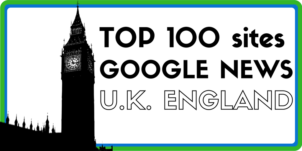 Top 100 websites on Google News – UK England Edition