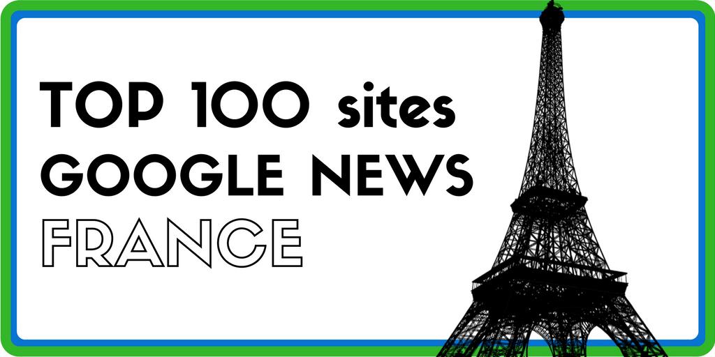Top 100 des sites français référencés sur Google News