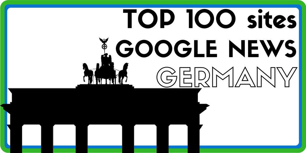 Top 100 des sites visibles sur Google News - allemagne